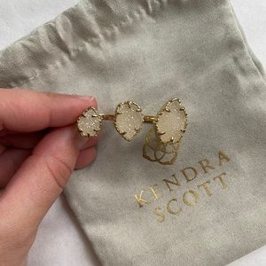 Kendra Scott Naomi ring gold iridescent drusy S/M